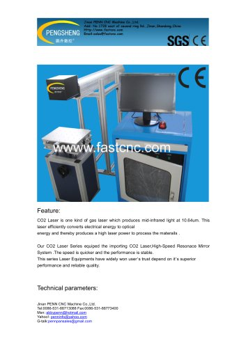 PENN CO2 Laser marking machine for non-metal material marking