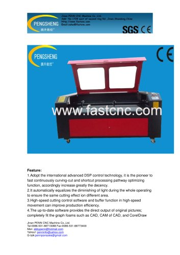 PENN double heads laser cutting machine for cloth