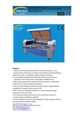 PENN PC-1280L CO2 laser cutting machine for leather cutting