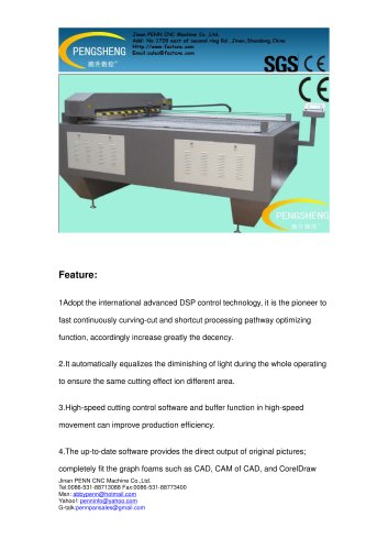 PENN PC-1318L laser cutting machine for leather
