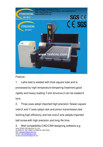 PENN PC-1318SS stone cnc router for stone engraving