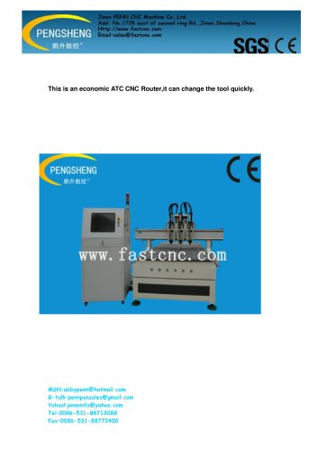 PENN PC-1325ATC-3 Multi-head ATC CNC ROUTER for woodworking