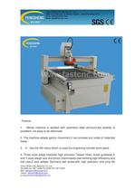 PENN PC-1325KY cylinder cnc router for cylinder material