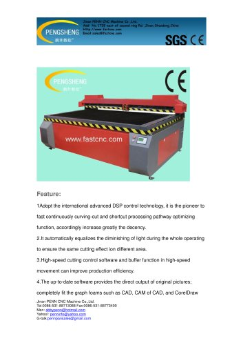 PENN PC-1325L double heads laser engraving&cutting machine for non-metal material