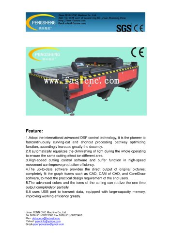 PENN PC-1325L laser cutting bed for acrylic cutting