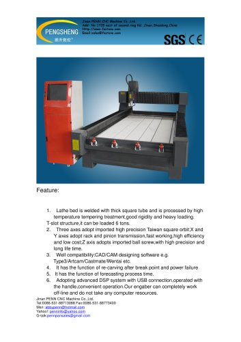 PENN PC-1325SS marble cnc router for marble