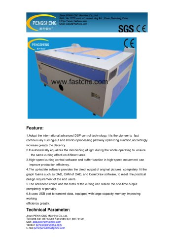 PENN PC-1390L laser cutting machine for leather