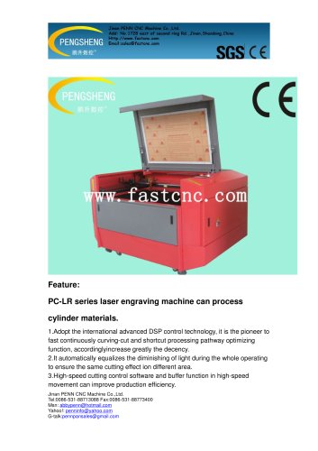 PENN PC-1390L laser cutting machine with rotary device for cylinder materials
