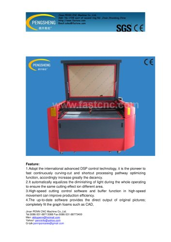 PENN PC-1410L laser engraving and cutting machine for wood