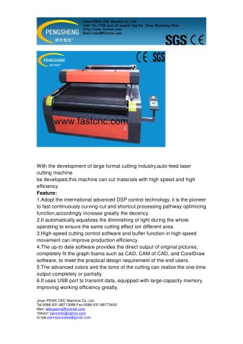 PENN PC-1530L CO2 laser cutter for acrylic