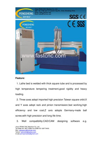 PENN PC-1530SS stone cnc router for stone,metal