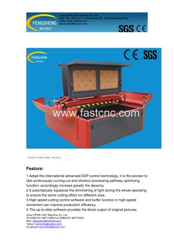 PENN PC-1610L CO2 laser cutter for cloth
