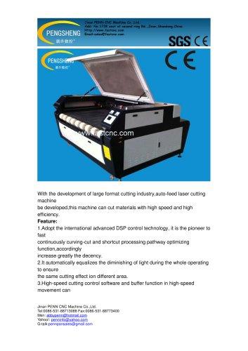 PENN PC-1610LA Auto feeding CO2 laser cutting machine for fabric