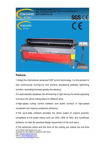 PENN PC-2030L large format laser cutting bed for non-metal materials cutting