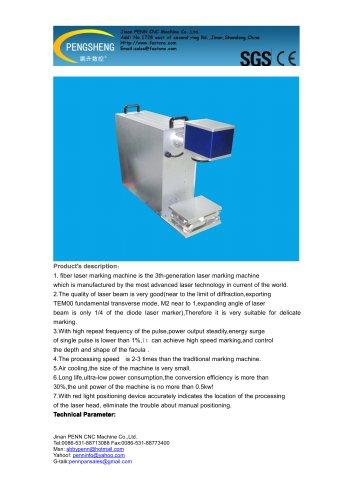 PENN PC-20F portable fiber laser marking machine for metal marking