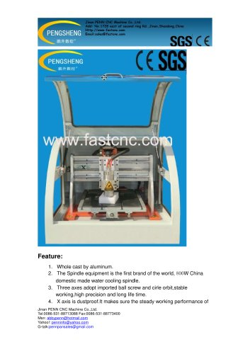 PENN PC-3030 Benchtop cnc router for wood