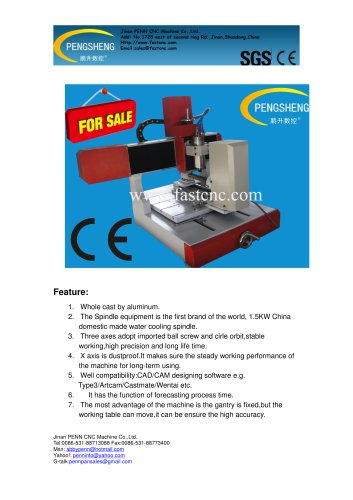 PENN PC-3030KY mini cylinder cnc router for cylinder