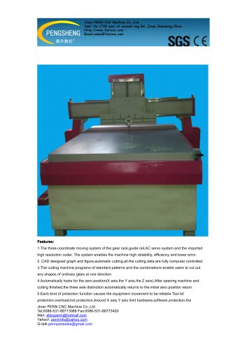 PENN PC-3425G cnc glass cutting machine for glass cutting