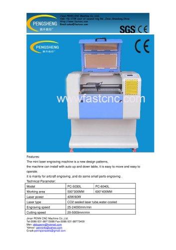 PENN PC-5030L mini CO2 laser engraving machine for non-metal materials
