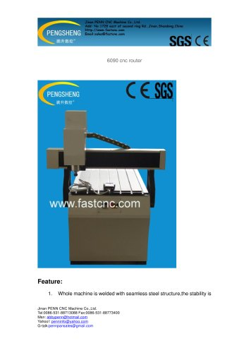 PENN PC-6090 cnc router for advertising