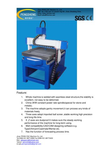 PENN PC-6090SS stone cnc router for stone,metal