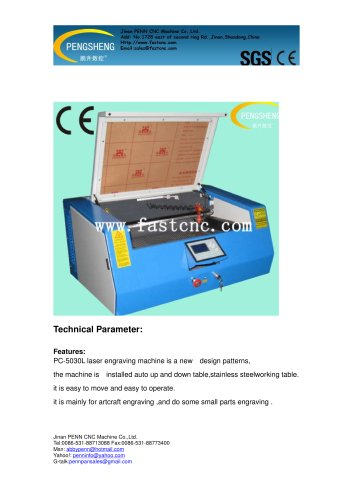 PENN small laser engraving machine PC-5030L for hobby