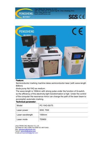 PENN YAG laser marking machine for metal marking