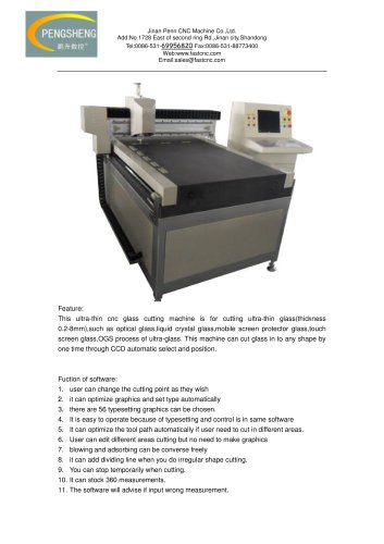 utra-thing glass cutting machine
