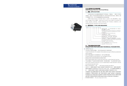 GSR3 Electrical overload relay