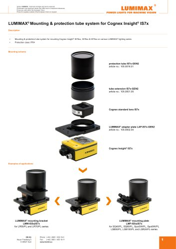 LUMIMAX mounting system for Cognex IS7x