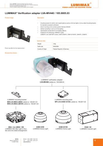 LUMIMAX Verification adapter for MV440