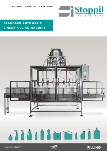 Automatic filler with diving nozzles
