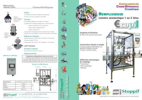 Remplisseuse - Automatique Ecopil