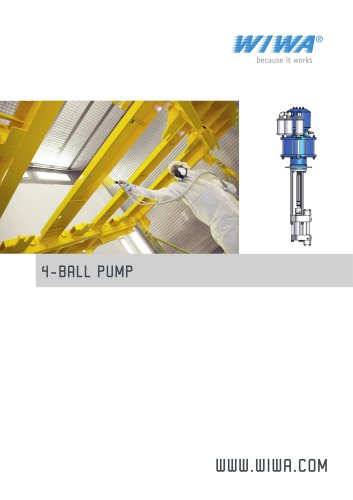 WIWA 4-Ball Pump for high volume transfer of material