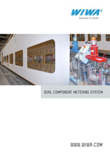 WIWA Dual component metering system