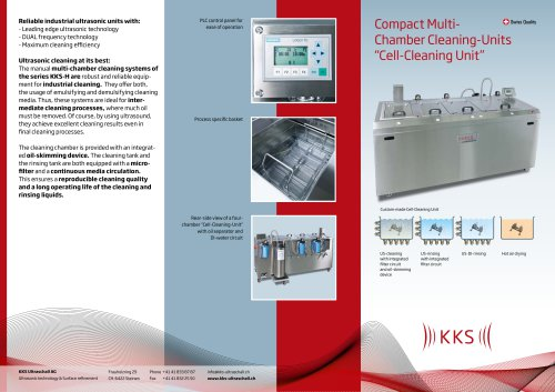 """Compact MultiChamber Cleaning-Units """"Cell-Cleaning Unit"""""""