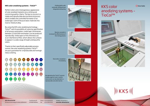KKS color anodizing systems – TioCol™