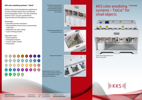 KKS color anodizing systems – TioCol™ for small objects