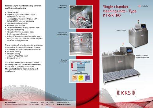 KKS Single-chamber cleaning units – Type KTR/KTRO