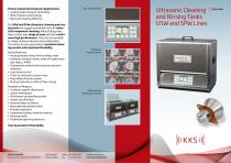 KKS Ultrasonic Cleaning and Rinsing Tanks USW and SPW Lines