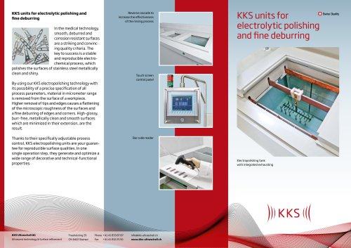 KKS units for electrolytic polishing and fine deburring