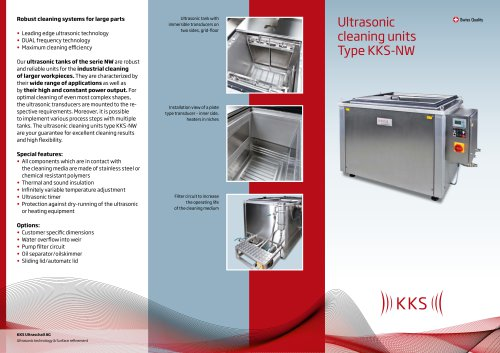 Ultrasonic cleaning units Type KKS-NW