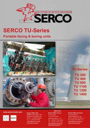 Portable facing & boring units - SERCO TU Series