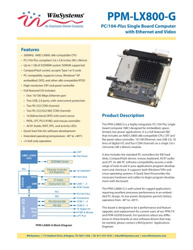 PCM-LX800-G