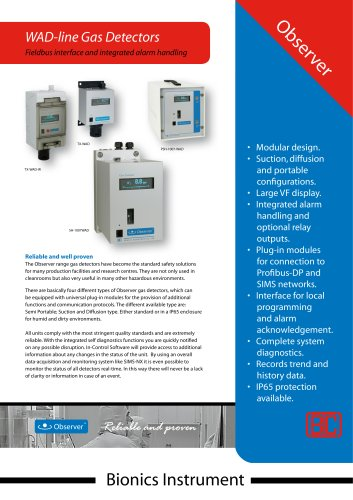 TX - WAD - diffusion type gas monitor - optional with remote sensor