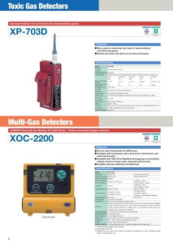 XP-703D - suction type portable gas detector