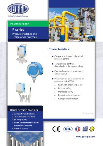 F serie - Pressure & temperature switches