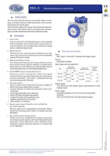 process transmitter FKH series
