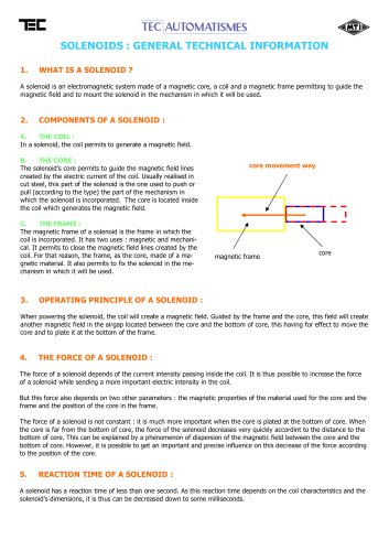 Solenoids and hold magnets
