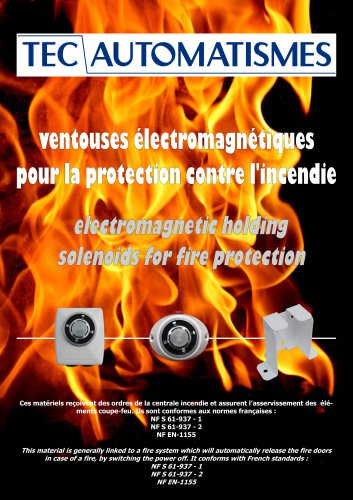 VELECMA range ( electromagnetic holding solenoids for fire protection)